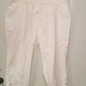 Pants - White crop pants